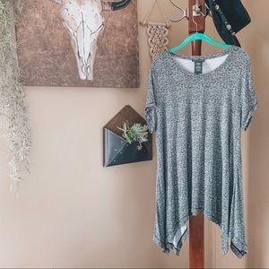 CHELSEA & THEADORE • asymmetrical tunic top